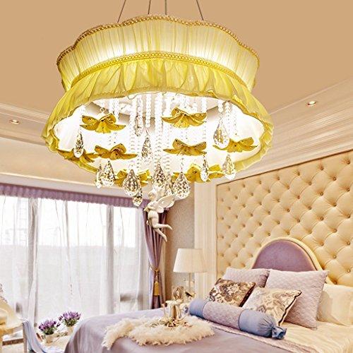 Top-selling-laterne (LightSei EU Deckenleuchten LED Rundtuch Kristall Schlafzimmer Lampen Bauernhaus Stil Lampen und Laternen Hellgelb -LED Patch)