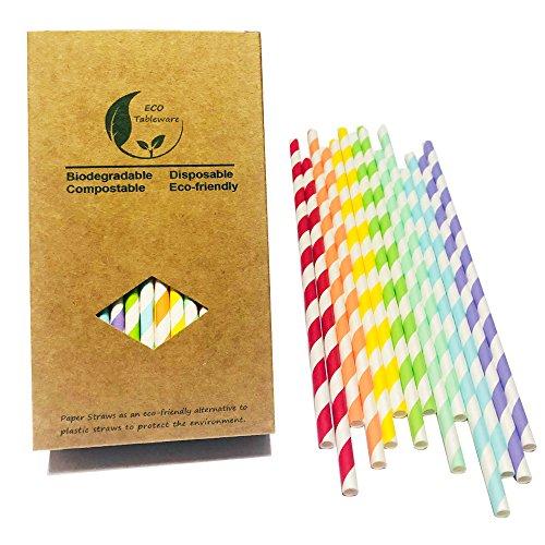 (Colorful verschiedenen 7Rainbow Celebration, Papier, Trinkhalme Dekorationen Candy und Pastell Serie für Geburtstage, Hochzeiten, Partys)