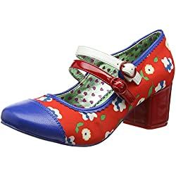 Poetic Licence by Irregular Choice Mini Mod, Damen Pumps, Multicolour (Red/Blue), 37 EU