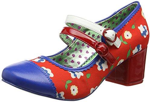 Poetic Licence by Irregular ChoiceMini Mod - Scarpe con Tacco donna , multicolore (Multicolour (Red/Blue)), 38 EU