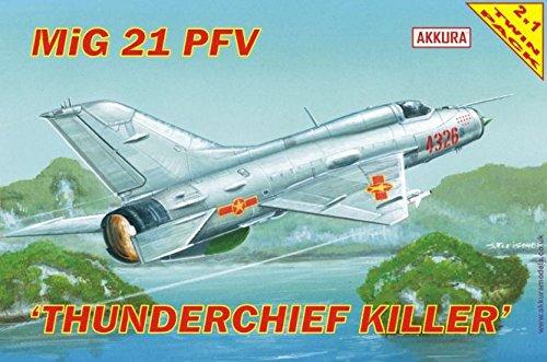MiG 21 PFV/PF THUNDERCHIEF KILLER /ZWEI IN EINS! - DUAL SET COMBO 2 in 1 MODEL SET/ VIETNAMESE & OTHER MARKINGS 1/72 AKKURA ... -