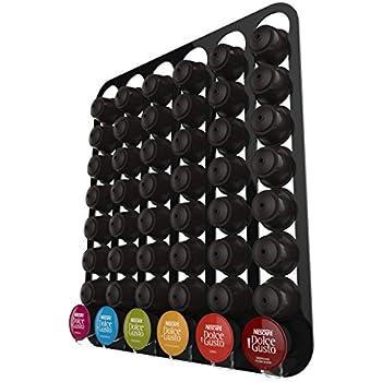 Capsules de caf dolce gusto peut contenir 48 capsules mural noir cuisine maison - Porte capsule dolce gusto mural ...