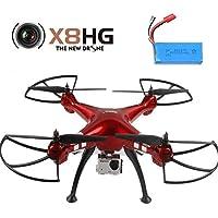 Creation® Syma X8HG senza testa RC Quadcopter con 8MP fotocamera e New Modalità altitudine attesa(1PC Extra Battery)---Colore casuale