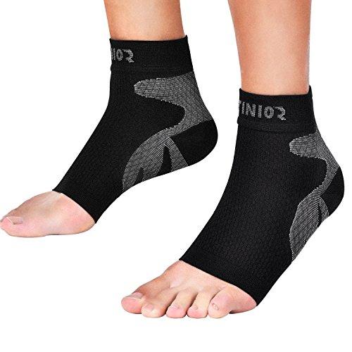 Plantar Fasciitis Kompression Socken, 20-30 mmHg Fuß Kompression Ärmel für Knöchel Ferse Unterstützung, erhöhen Blutkreislauf, entlasten Bogen Schmerzen, reduzieren Fuß Schwellung, 1 Paar (L/ XL) (Mmhg Unterstützung 30)