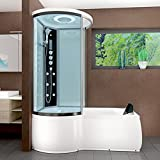 AcquaVapore DTP8055-A007R Whirlpool Wanne Duschtempel Dusche Duschkabine 98x170, EasyClean Versiegelung der Scheiben:Nein! +0.-EUR