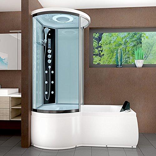 AcquaVapore DTP8055-A007R Whirlpool Wanne Duschtempel Dusche Duschkabine 98×170
