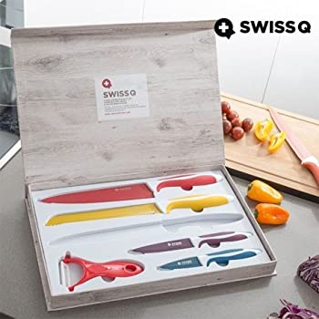 Swiss Line 5 Piece Knife Set With Bonus Peeler Amazon Co