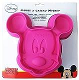 ELI Micky Maus Silikonbackform [pink, Ø 25 cm]