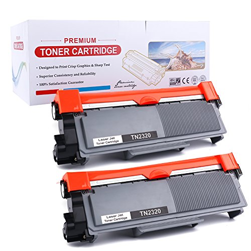 2er TN2320 TN-2320 TN2310 Toner Kompatibel for Brother HL-L2300D L2320D L2340DW L2360DW L2380DW, DCP-L2500D, L2520DW, L2540DN, L2560DW, MFC-L2700DW, L2720DW, L2740DW | 2 * 2600 Seiten