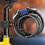 Awroutdoor-Lucchetto-per-Bici-Catena-per-Bici-Alta-Sicurezza-Lucchetto-a-4-cifre-Combinazione-resettabile-Cavo-di-Sicurezza-per-Bicicletta-12-mx12-mm