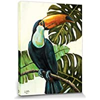 1art1® Tucanes - Tropical Toucan, Louise Brown Cuadro, Lienzo Montado Sobre Bastidor (40 x 30cm)
