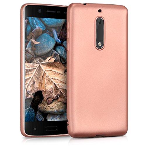 kwmobile Nokia 5 Hülle - Handyhülle für Nokia 5 - Handy Case in Metallic Rosegold