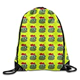 Sad Frog Pepe A Drawstring Backpack Classic Gorgeous Sports for Boys