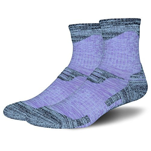 51CK6xq9oUL. SS500  - 3 Pairs Men Women Running Hiking Socks - No Blister Terry Cushion, Breathable, Warm, Moisture Wicking, Arch Support, for Outdoor Sports Walking Trekking Cycling Camping Golf Gym, Unisex UK Size 3-7