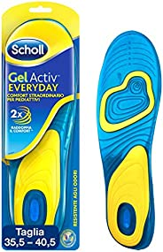 Scholl Gel Activ Everyday, Solette Uso Quotidiano per Donna, Taglia 35.5 - 40.5 EU, 1 Paio