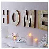 Leinwandbild LED Wandbild Bild 40x40cm 3 LEDs Home Wellness Spa Feng Shui Licht Beleuchtung Wanddekoration Dekoration Wanddeko