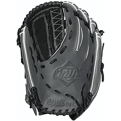 Wilson Onyx ASO Outfield Fastpitch Softball Glove, Black/Coal, Right Hand Throw, 12.75-Inch by Wilson