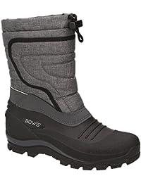 BOWS Bente- Herren Damen Kinder Unisex Schnee Stiefel Winter Boots Schlupf Schuhe Gefüttert Wasserdicht Wasserabweisende