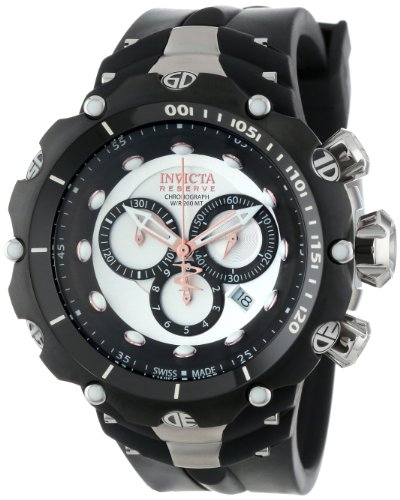 Invicta Watches, Men's Venom/Reserve Chronograph Silver Dial Black Polyurethane, Model 11703 image