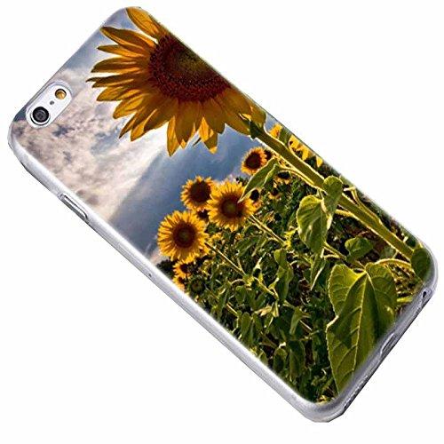 Easbuy Blume Flower Handy Hülle Soft Silikon Case Etui Tasche für iPhone 7 Plus Smartphone Cover Handytasche Handyhülle Schutzhülle Blumen 13