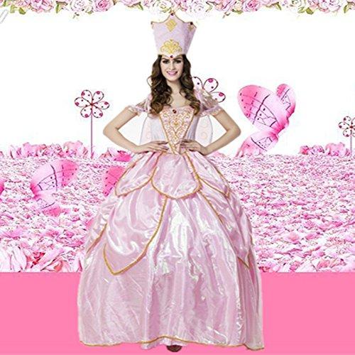 Gorgeous Weiblich rosa Kleid ElfenköniginMaskerade-Partei -Blumen-Fee Prinzessin Kleid ()