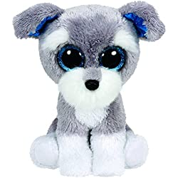 TY - Beanie Boos Whiskers, perro, 15 cm, color gris (United Labels Ibérica 36150TY)