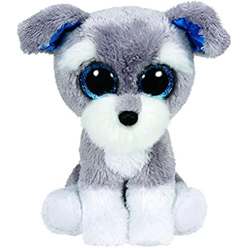 peluches TY - Beanie Boos Whiskers, perro, 15 cm, color gris (United Labels Ibérica 36150TY)