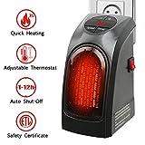 Handy Heater 350W Keramik Mini Heizung Thermostat Elektrische Heizung mit Timer Heizlüfter für Steckdose