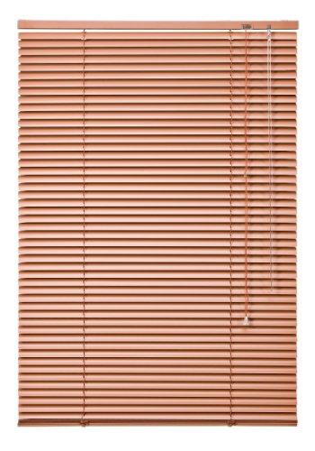 Preisvergleich Produktbild WR-Design Alu Jalousie Terracotta - Breite 50 bis 240 cm - Höhe 130 / 160 / 220 cm - Tür Fenster Rollo Jalousette Aluminium Fensterjalousie Lamellen Metall (120 x 130 cm)