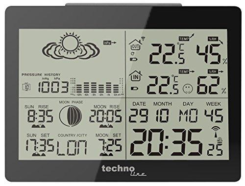 GARNI WS 6760 estación metereológica - Estación meteorológica (Negro, Color...
