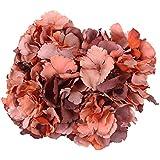LUYUE 5grandes cabezas de seda Artificial ramo de Hortensia Artificial flores arreglo Home boda Decor