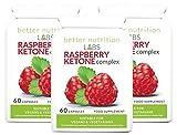 Raspberry Ketones Complex (Pack de 3 mois) – Pillules de régime de Cétones de Framboise par Better Nutrition Labs – 180 capsules