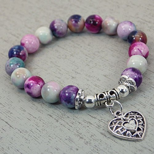 very-nice-bracelet-thurcolas-in-jade-beads-tinted-in-blue-and-purple-with-an-antique-silver-heart-sh