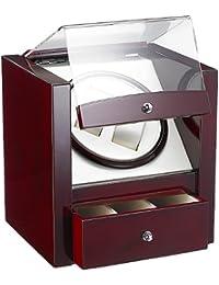 St. Leonhard Uhrenschwenker: Edler Design-Uhrenbeweger für 2 Uhren, Rotholz (Automatische Uhrenbeweger)