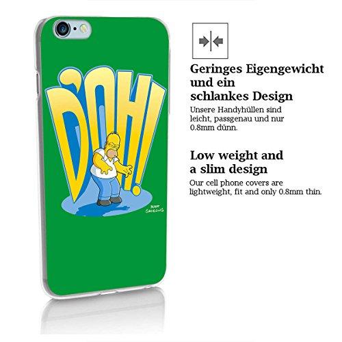 finoo | Iphone 6 Plus / 6S Plus Hard Case Handy-Hülle Simpsons Motiv | dünne stoßfeste Schutz-Cover Tasche mit lizensiertem Muster | Premium Case für Dein Smartphone| Homer Cant Talk Eating Homer DOH