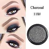 Lidschatten, FEITONG Make-up Metallische Glänzende Augen Lidschatten Wasserdichte Glitter Lidschatten #18