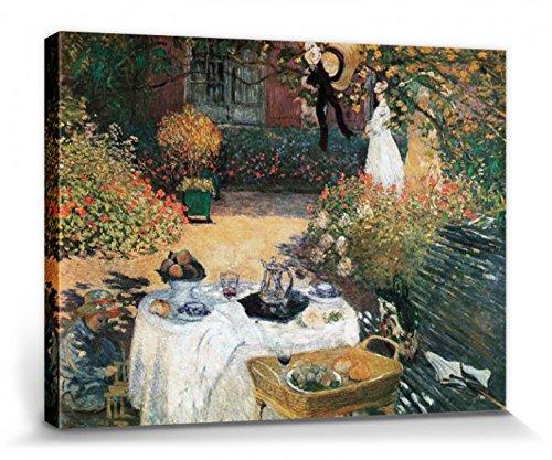 Monet - Das Mittagessen, 1873 Poster Leinwandbild Auf Keilrahmen 40 x 30 cm (Kunst-tisch Für Kleinkinder)