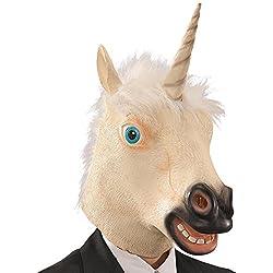 Carnival Toys - Máscara de látex unicornio en bolsa con encabezado, multicolor (745)