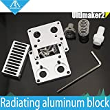 Generic 1 75 : DIY 3D printer Ultimaker 2 + UM2 Extended+ Olsson block interchangeable nozzle PTFE Heat Sink kit for 1.75/3mm filament