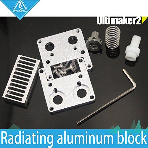 Preisvergleich Produktbild Generic 3: DIY 3D Drucker Ultimaker 2+ UM2Extended + Block austauschbar Düse Kühlkörper Kit für 1,75/3mm Filament