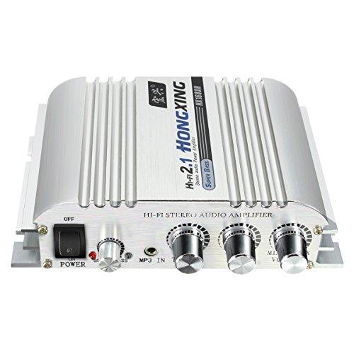 ELEGIANT 300W 2.1 CH Mini Hi-Fi Amplificador Alta Fidelidad Para Coches, Motocicleta Audio Estéreo CD MP3 MP4 Ipod Coche Audio Estéreo Bajo Amplificador