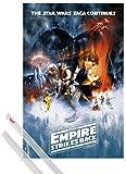 Póster + Soporte: Star Wars Póster (91x61 cm) Episodio V, El Imperio Contraataca, Cartel De Cine Y 1 Lote De 2 Varillas Transparentes 1art1