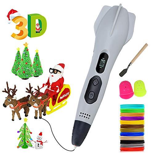 3D Penna Stampa丨Tipo di missile 3D Penna con Schermo LCD,3 Tipi di Controllo Della Velocità e Regolazione Della Temperatura, Modalità Manuale Unica,Regalo Per Bambini e Adulti,Regalo di Nat