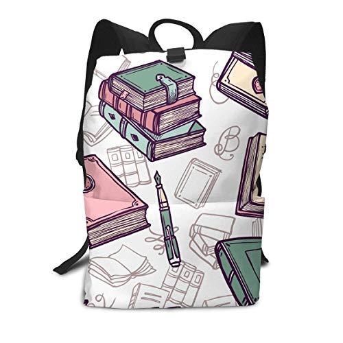 Bücher Nahtlose Rucksack Mitte für Kinder Jugendliche Schule Reisetasche