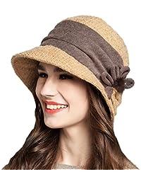 Maitose® Fleurs décoratives Laine Bucket Chapeau de femmes
