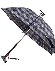 GUO Inteligente paraguas de mango largo stick-slip caña de iluminación ancianos paraguas de caña de alarma multifunción