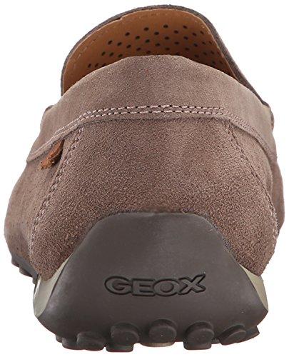 Mocassins, couleur Marron , marque GEOX, modèle Mocassins GEOX U SNAKE MOC 2FIT Marron Tortora