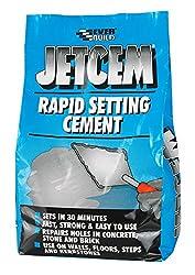 JetCem Rapid Set Cement - Fast setting repair cement - 3kg - Grey