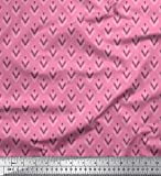 Soimoi Rosa Poly Georgette Stoff Stammes- Ikat Stoff