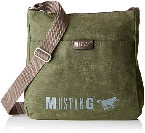 Mustang Damen Wayne Pam Shoulderbag Lvz Schultertasche, Grün (Khaki), 7x27x27 cm